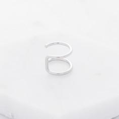 Upper cuff earring in silver