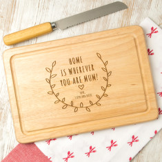 Personalised mother's chopping board