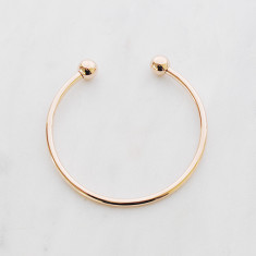 Solid love bangle in rose gold or silver