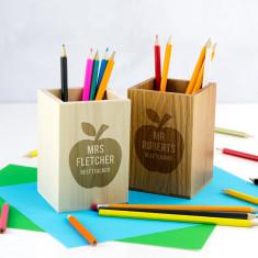 Personalised Best Teacher Pen Pot