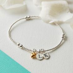 Personalised Silver Bead Bracelet