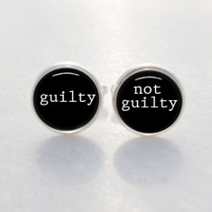 Guilty & not guilty cufflinks
