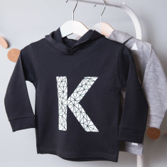 Personalised Geometric Initial Children's Hoodie