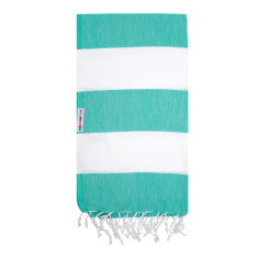 Hammamas Turkish Towels in Bold Spearmint / White