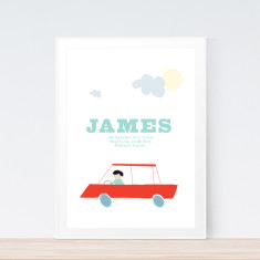 Cars birth prints (various colours)