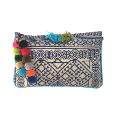 Kavali Pocket Clutch - Navy