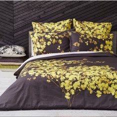 Bloom Gold 3-piece quilt cover set