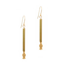 Fine gold brass tulip earrings