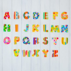 Striped And Spotty Decorative Name Letter