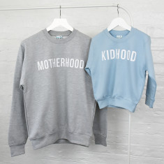 Mum And Me Motherhood Kidhood Sweatshirt Jumper Set