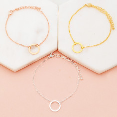 Circle of love bracelet in rose gold, gold or silver