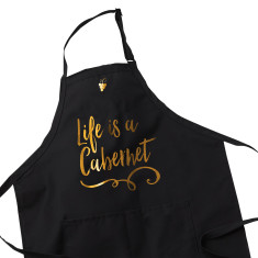 Wine Lover Apron - Life is a Cabernet
