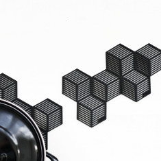 SICO geometric optical silicone coasters (set of 4)