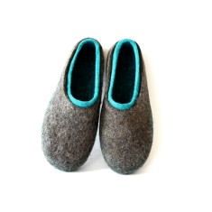 Women's Wool Slippers Turquoise