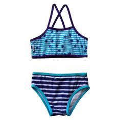 Girl's Bikini in Pineapples Aquamarine