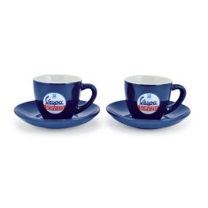 Vespa cappuccino coffee cups (set of 2)
