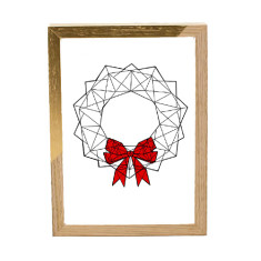Geometric Wreath print