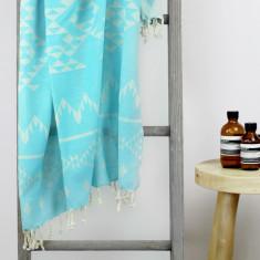 Santorini Turkish Towel in Turquoise