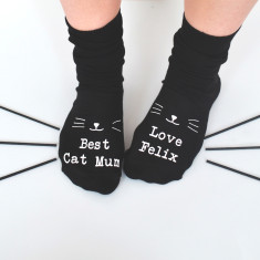 Best Cat Mum Personalised Socks