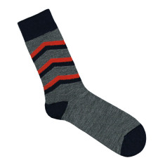 Lafitte marle grey arrow wool socks