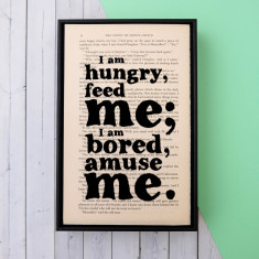The Count of Monte Cristo 'Feed Me' quote print