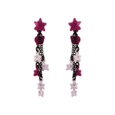 N2 Pink and Purple Stars Earrings