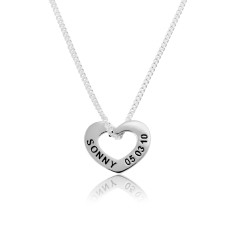 Heart pendant and sterling silver chain