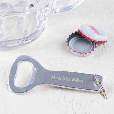 Engraved Wedding Bottle Opener Keyring