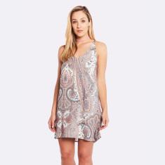 Harmony Dress In Grey/Pink