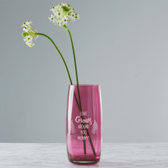 Personalised Love Grows Coloured Vase