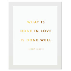 What is done in love gold foil print