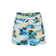 Boys' UPF 50+ Retro Hawaii Swim Short