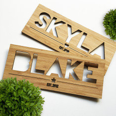 Personalised name plaque (boys and girls)