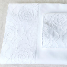Flat & Fitted Camellia Cot Sheet Set