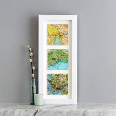 Three map squares personalised wedding print