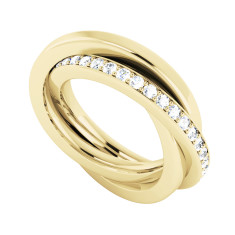 Diamond 9ct Yellow Gold Russian Wedding Ring