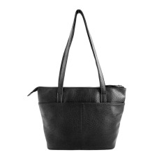Stockholm Black Italian Leather Handbag