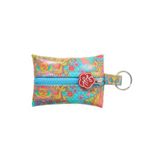 Key ring in Indian summer print