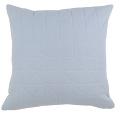 Quilted Powder Blue Cushion (various sizes)