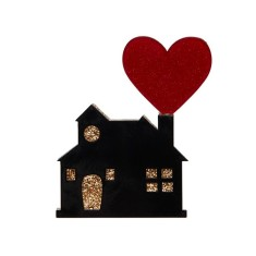 Erstwilder home is where the heart is brooch