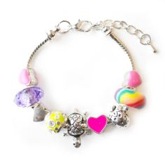 Children's bright summer charm bracelet
