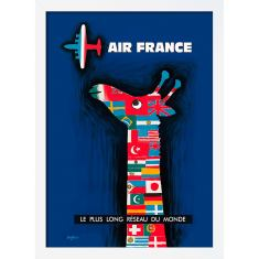 Air France Giraffe Print