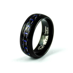 Men's maserati tungsten carbide ring