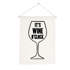 It's wine o'clock handmade wall banner