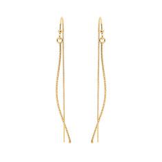 Silver rain earrings in gold