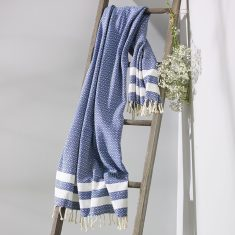 Bronte Turkish Towel In Sailor Blue