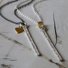 Personalised mega bar necklace