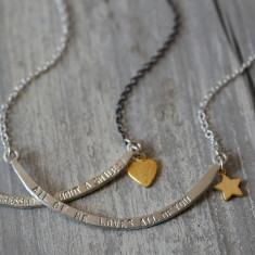 Personalised smile necklace
