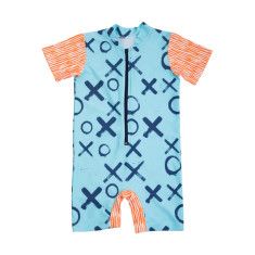 Baby short sleeve sunsuit in Love XOXO Popsicle