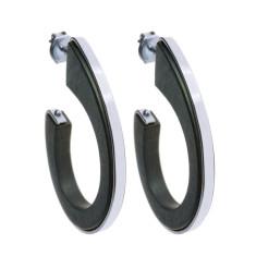 Rhodium Riad hoop earrings